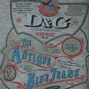 D&G vintage button up t shirt size XL